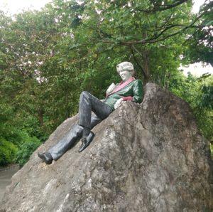 A Statue of Oscar Wilde in Dublin, Ireland